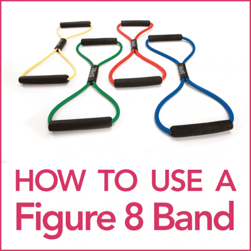 "Four Figure 8 Bands on a white background with the words ""How To Use A Figure 8 Band"""