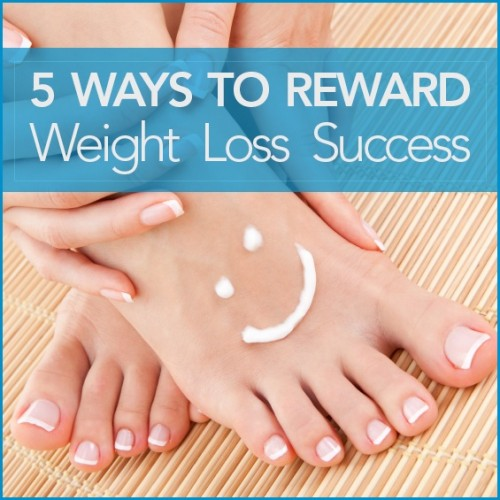 Here are five ways to reward weight loss success!