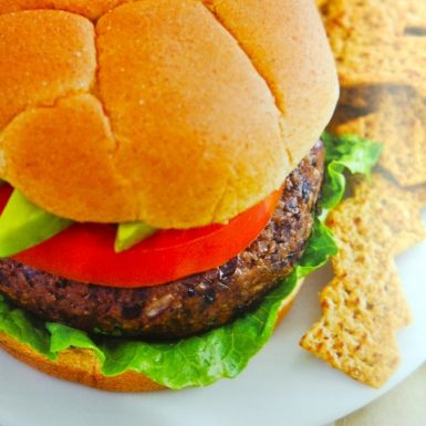 Try this delicious and healthy spicy black bean burger recipe at your next BBQ! A delicious vegetarian option and they freeze great!