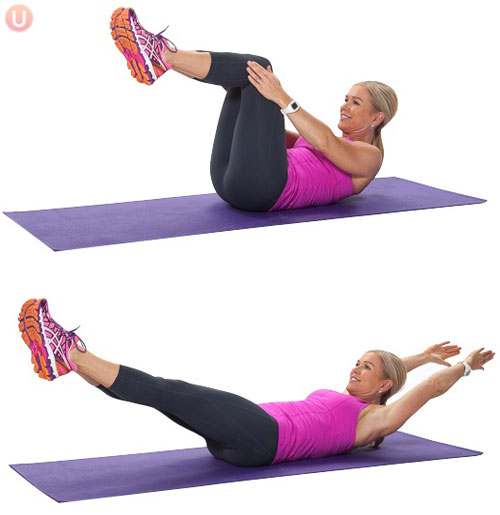 How To Do A Double Leg Stretch