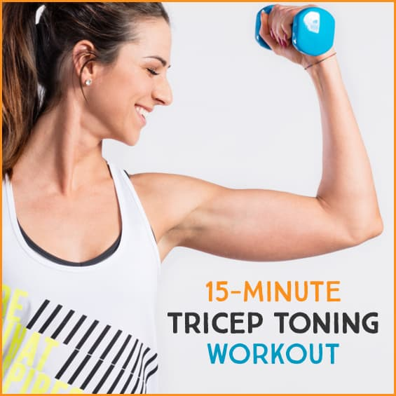 Work your triceps with this 15 minute arm workout.