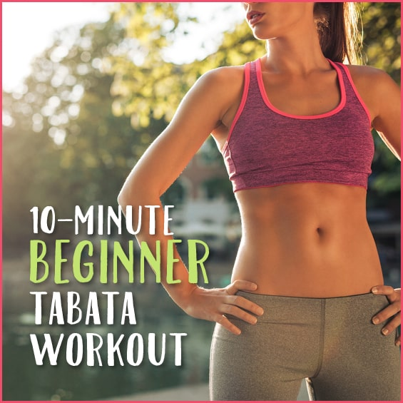 Woman getting ready to do an interval workout