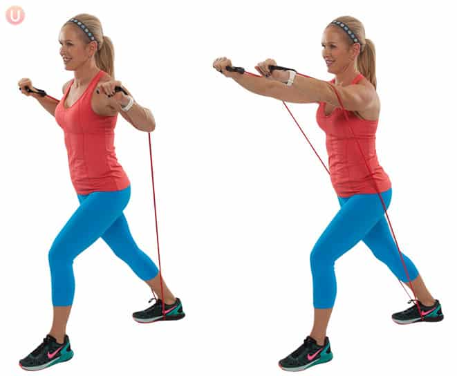 How To Do Resistance Band Chest Press - Get Healthy U