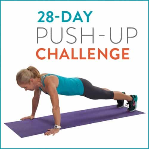 Here it is! Our 28-Day Push-Up Challenge to get strong and toned arms!