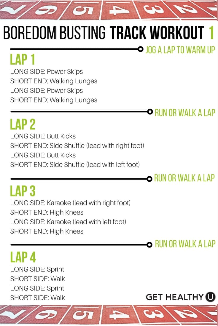 Beat boredom and burn calories with this amazing track workout.
