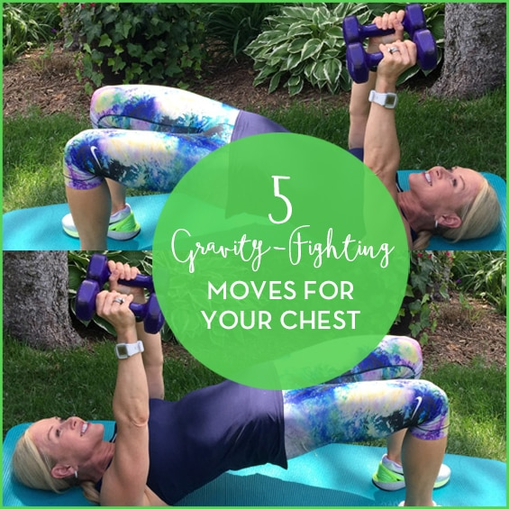 Try these five gravity-fighting moves to lift your chest.