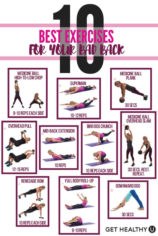 10 Best Exercises For Your Bad Back Get Healthy U