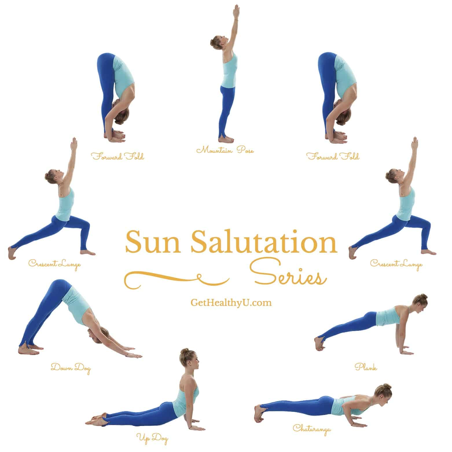 Confused during yoga? Here's exactly how to do a sun saluation!