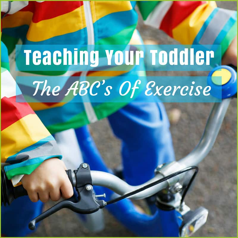 Teach your toddler the value of exercise while reading to them.