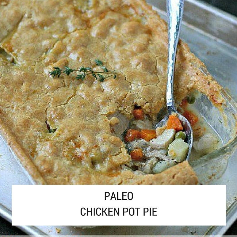 A healthy and delicious gluten-free chicken pot pie recipe brimming with fresh delicious ingredients.