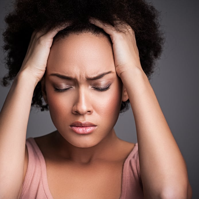 Read about stress-related hair loss and how to solve it.