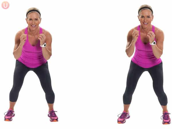 Use moves like the lateral shuffle to get a HIIT workout in that's safe for your knees.