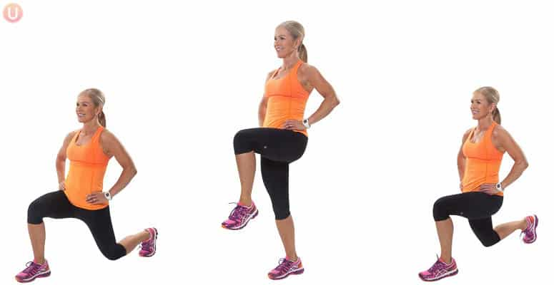 Try walking lunges to tone up your inner thighs.
