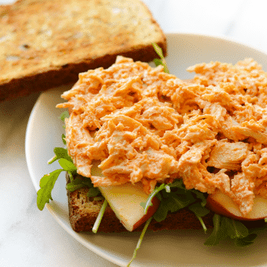 3 ingredient buffalo chicken made in the slow cooker - so easy and so delicious!