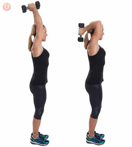 Do this exercise to tone your triceps and say goodbye to bat wings.
