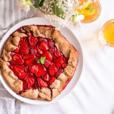 Try this healthy strawberry galette for a timely summer dessert!