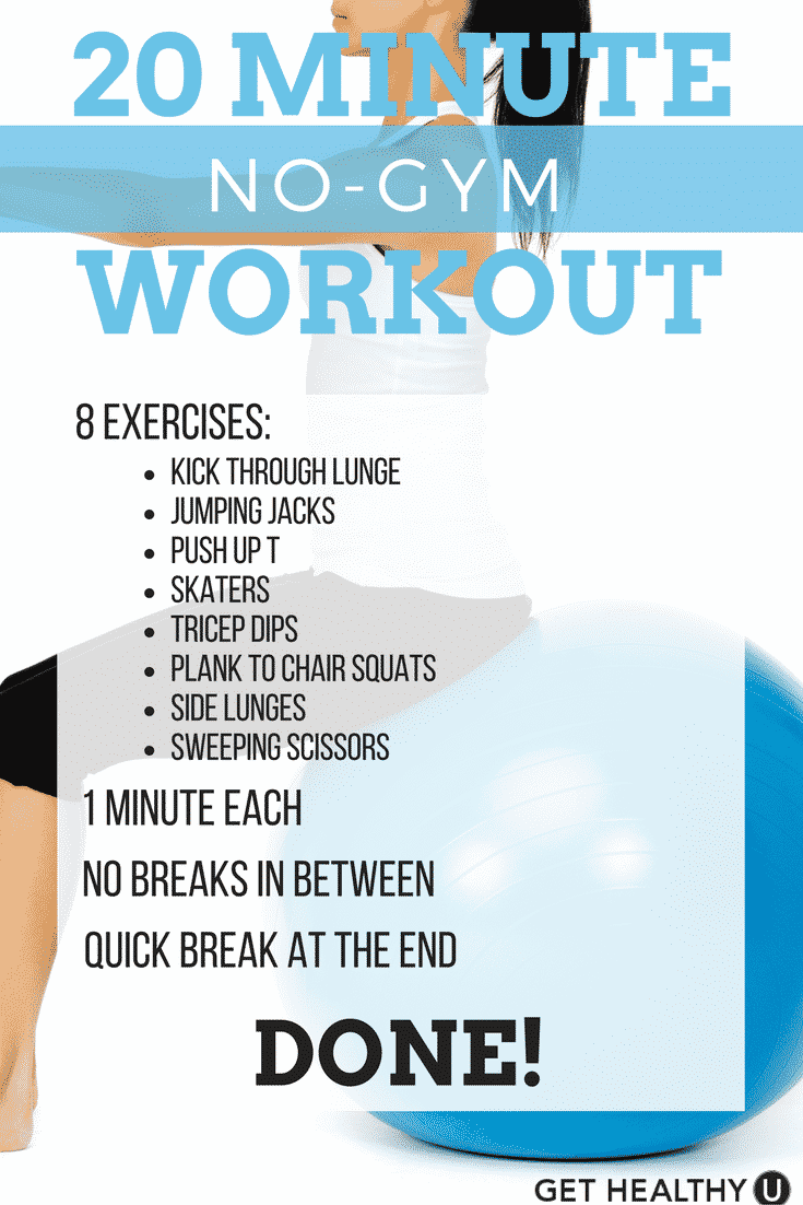 20-Minute at home workout that allows you to skip the gym but till tighten, tone, and get that heart pumping!