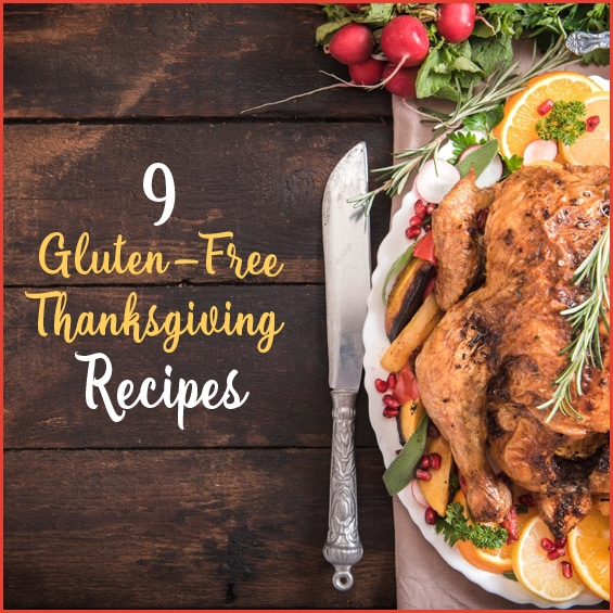 A delicious, healthy list of 9 gluten-free recipes perfect for the holidays!