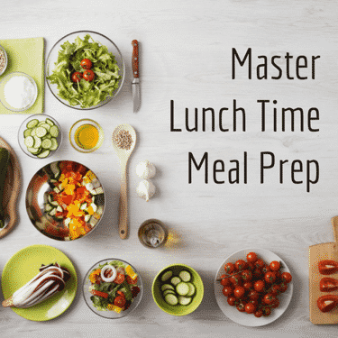 Become a lunchtime meal master with these healthy tips.
