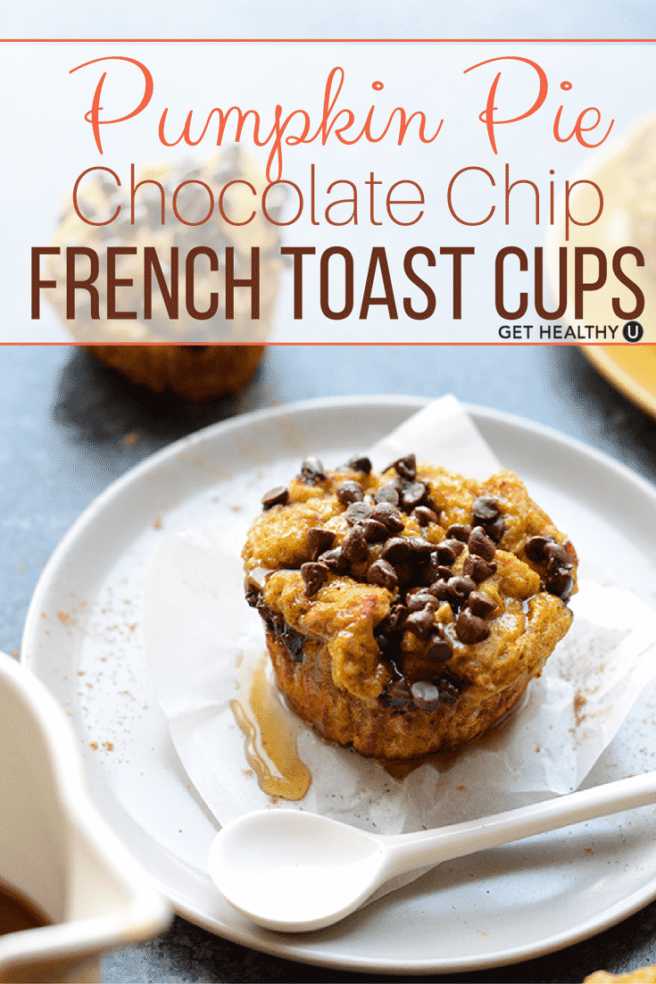 Delicious recipe for Chocolate Chip French Toast cups! A wonderful breakfast for these colder months!