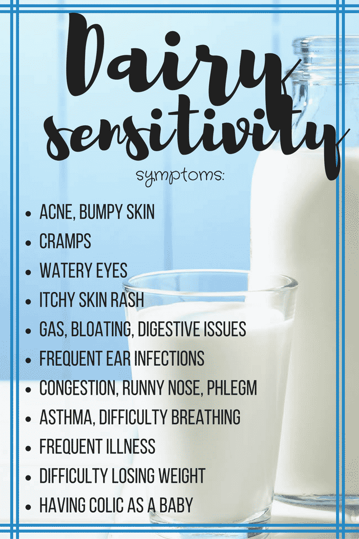 Here are the most common symptoms of a dairy sensitivity!
