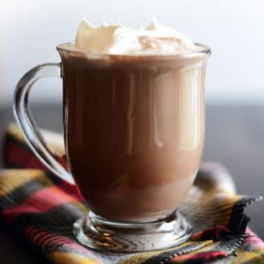 Whip up this quick and delicious dairy-free hot chocolate recipe for your next holiday celebration its delicious and only 80 calories per serving!