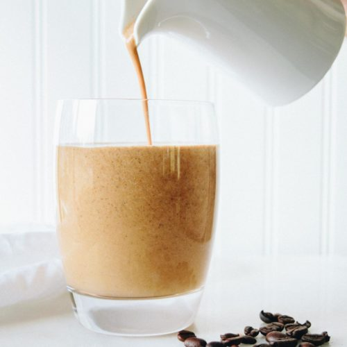 This nutty nespresso frappe is packed with healthy ingredients for a delightful coffee break.