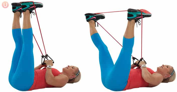 resistance band outer thigh press