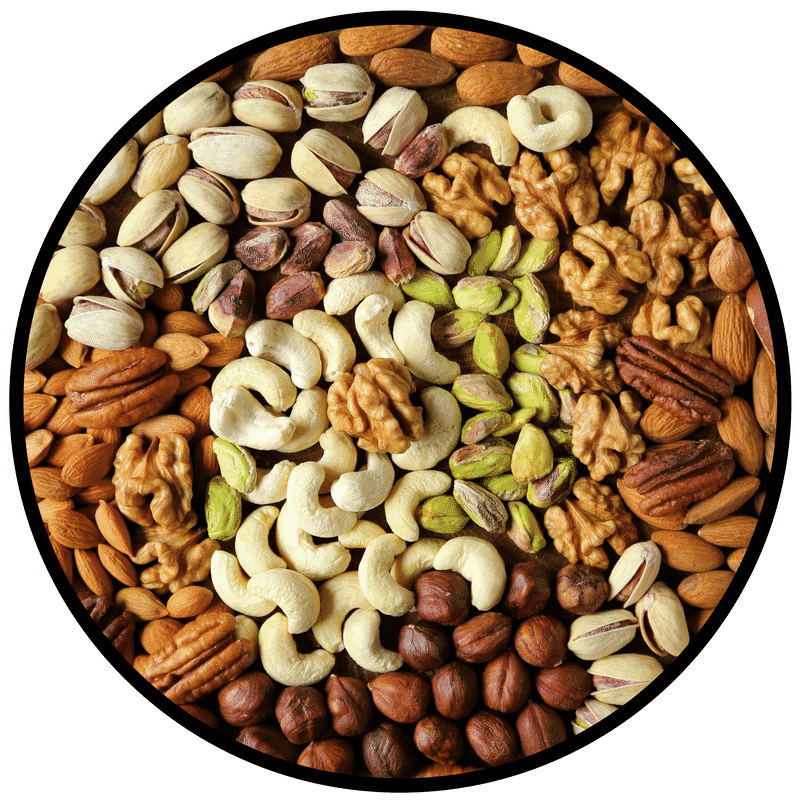 This blog outlines the health benefits of healthy monounsaturated fats, otherwise known as MUFAs, one of which being the delicious nuts and seeds.