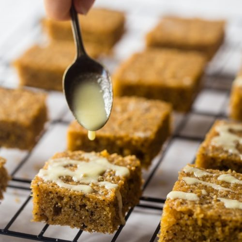 Simple and delicious this easy slow cooker recipe for lemon poppy seed cake bars makes a super tasty and moist dessert or post workout snack.