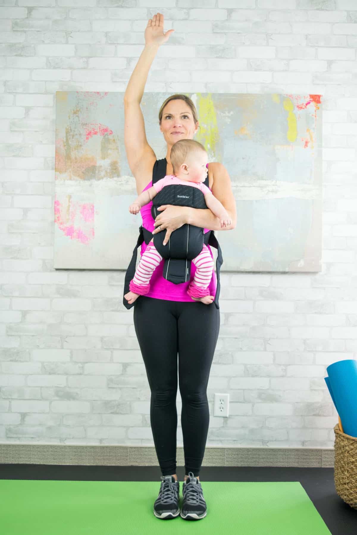 Standing Mountain Pose with your baby