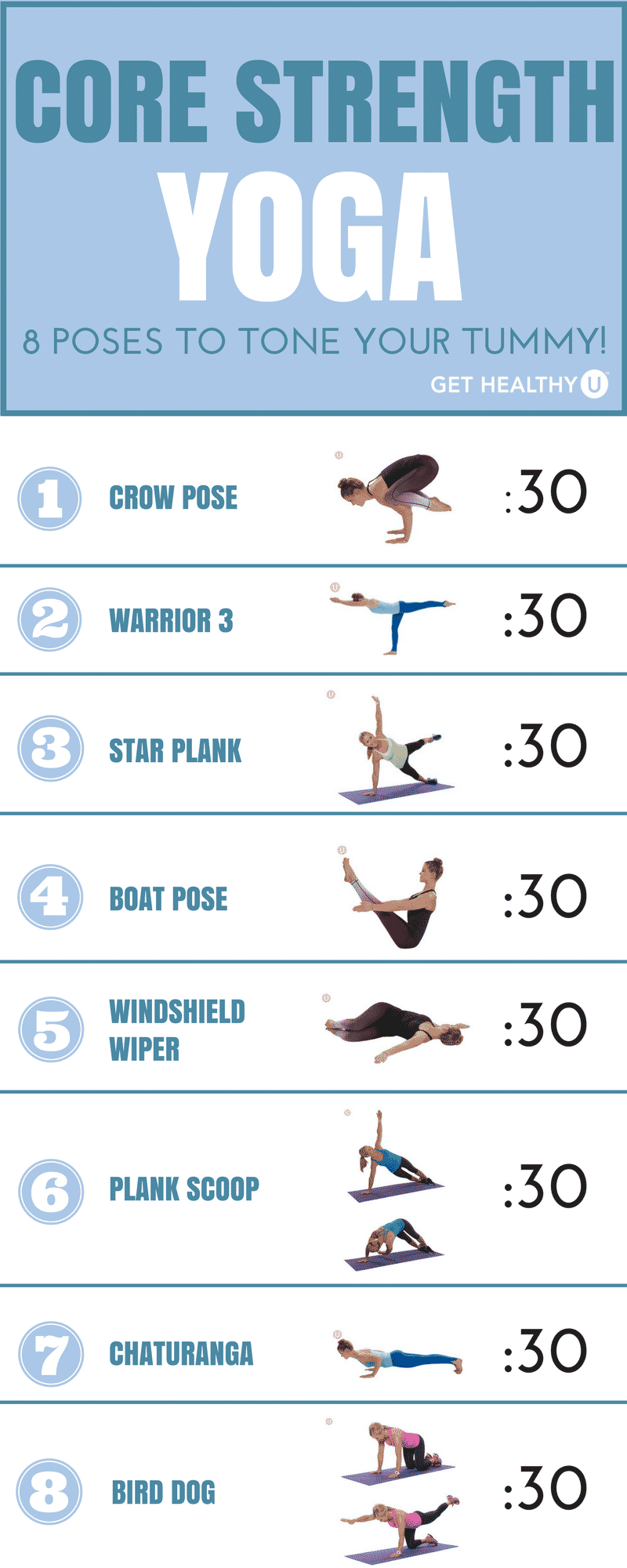 8 challenging yoga poses for core strength click here to get your printable core strength yoga exercise chart geenschuldenfo Choice Image