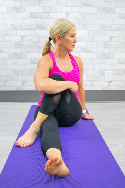 Try this seated spinal twist