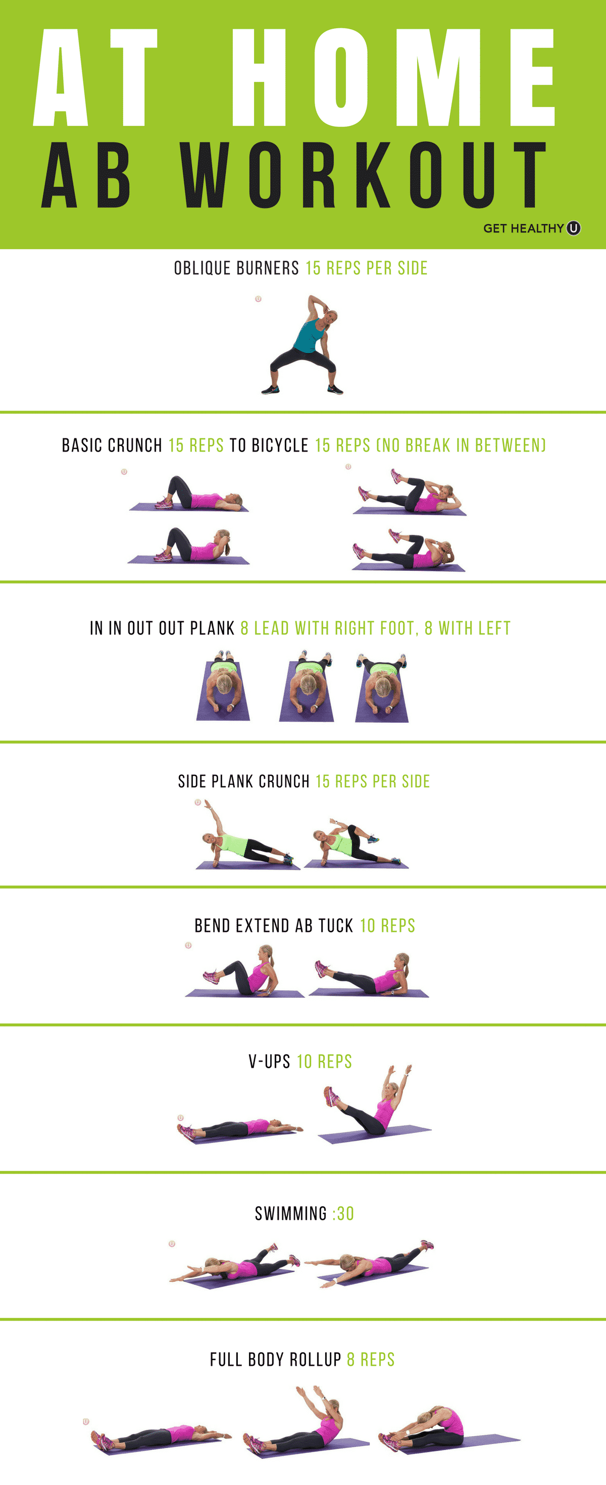Workout graphic of Chris Freytag performing various abdominal moves
