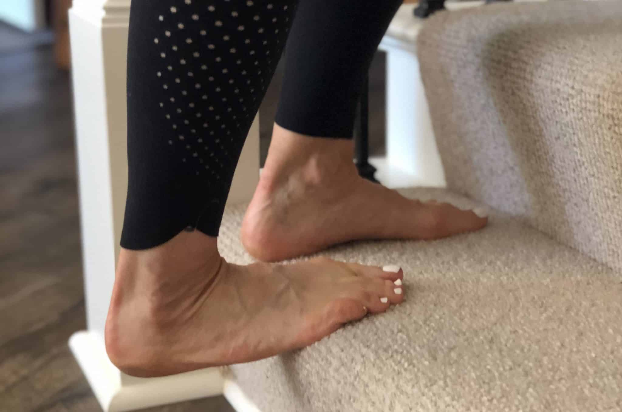 Step stretch for plantar fasciitis pain
